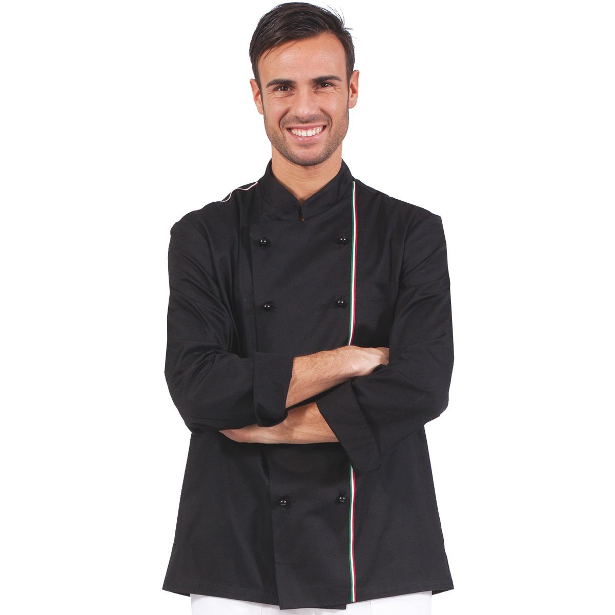 flag-italia-giacca-cuoco-nera