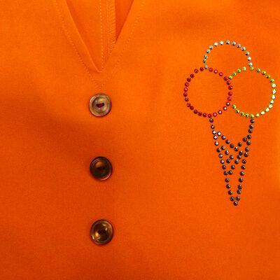 arancio strass