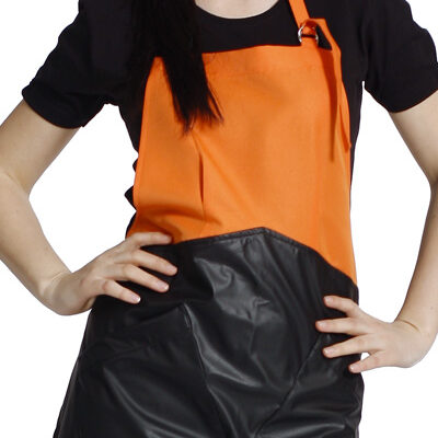 arancio/ecopelle nero