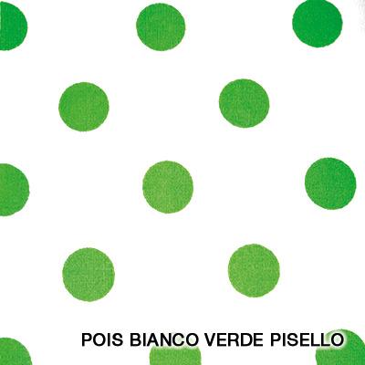 pois bianco verde piselle