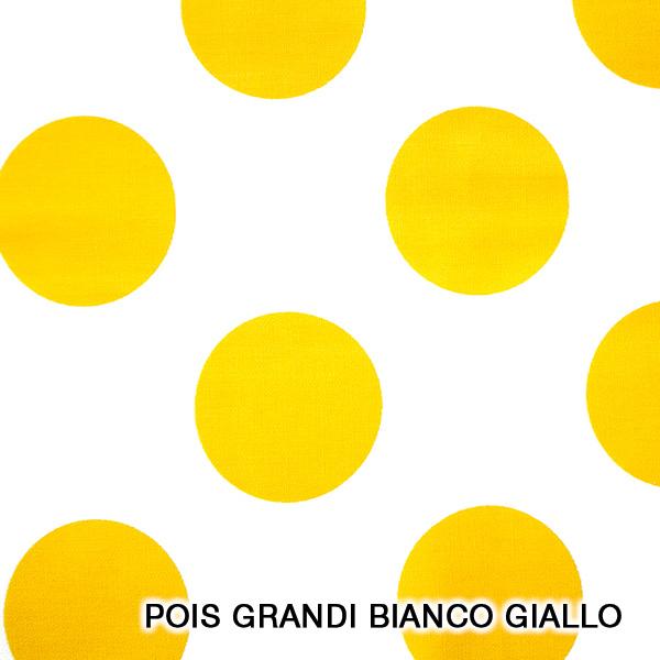 pois grandi bianco giallo