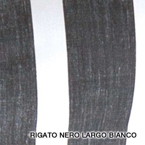 rigato nero largo bianco